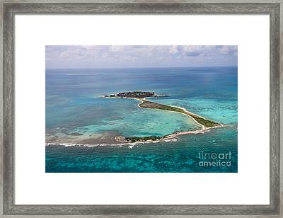 Fort Jefferson Aerial View Dry Tortugas National Park Framed Print by Jason O Watson