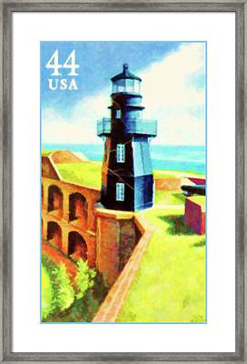 Fort Jefferson Lighthouse Framed Print by Lanjee Chee