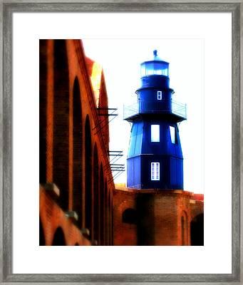 Fort Jefferson Lighthouse Framed Print