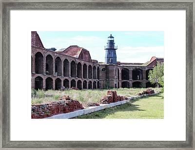Fort Jefferson Lighthouse Framed Print by Teresa Wilson