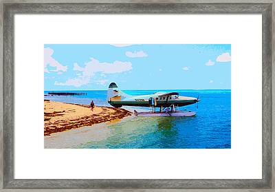 Fort Jefferson Sea Plane Framed Print by Andy Jeter