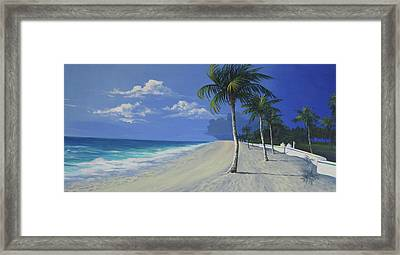 Fort Lauderdale Beach Framed Print by Anne Marie Brown