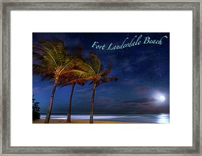 Fort Lauderdale Beach Greeting Framed Print by Mark Andrew Thomas