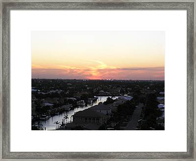 Fort Lauderdale Sunset Framed Print