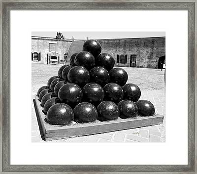 Fort Macon Cannonball Framed Print