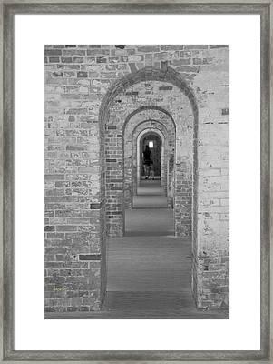 Fort Macon Going Home Framed Print by Betsy Knapp