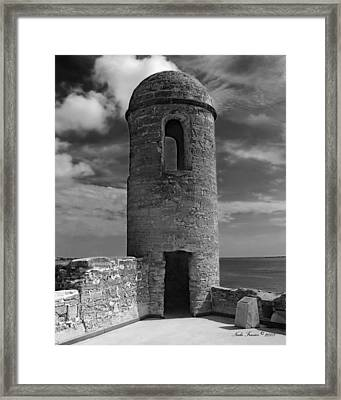 Fort Marion Tower  Framed Print by Nada Frazier