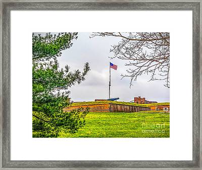Framed Print featuring the photograph Fort Mchenry National Monument  by Nick Zelinsky