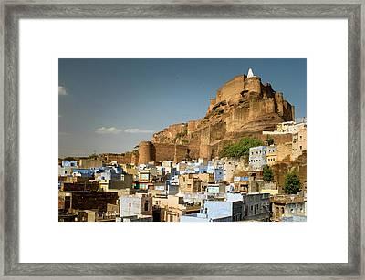 Fort Mehrangarh And Old Town In Jodhpur Framed Print by Ania Blazejewska