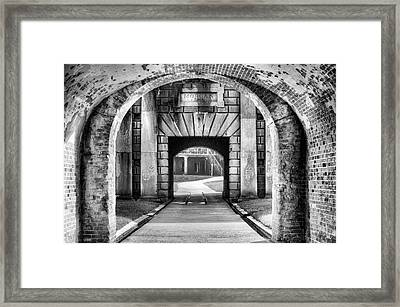 Fort Morgan Black And White Framed Print by JC Findley