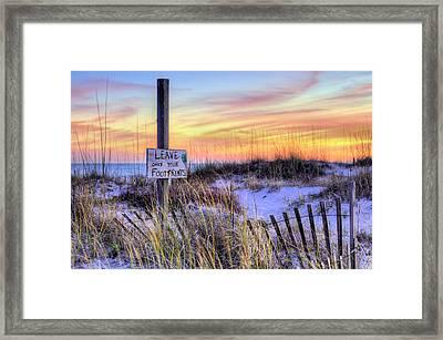 Fort Morgan Sunsets Framed Print