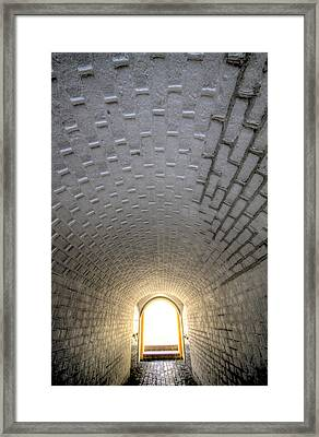 Fort Moultrie Bunker Tunnel Framed Print