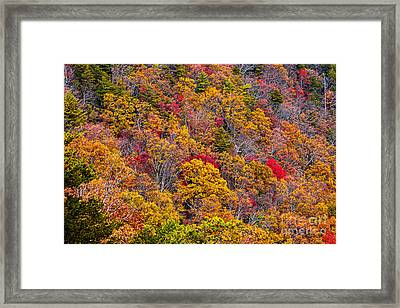 Fort Mountain State Park Cool Springs Overlook Framed Print by Bernd Laeschke