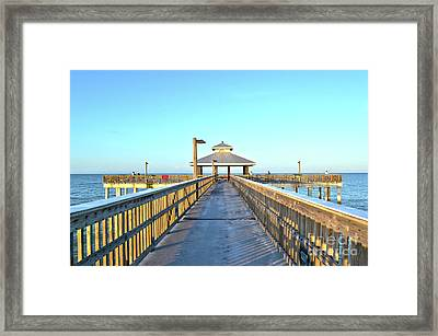 Framed Print featuring the photograph Fort Myers Beach Florida Fishing Pier by Timothy Lowry