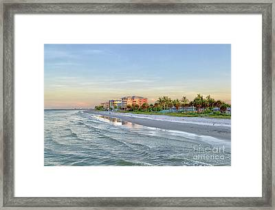 Fort Myers Beach Pier View 2011 Framed Print