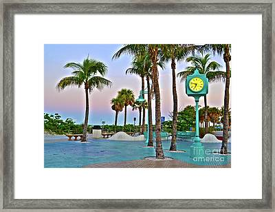 Fort Myers Beach Times Square 1 Framed Print