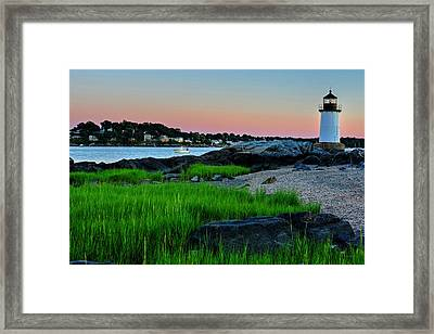 Fort Pickering Light Through The Tall Grass Salem Ma Framed Print by Toby McGuire