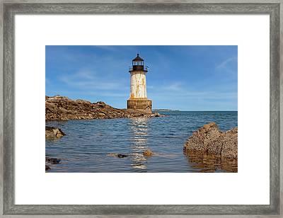 Fort Pickering Lighthouse  -  Fortpickeringlight1871salem185107 Framed Print by Frank J Benz