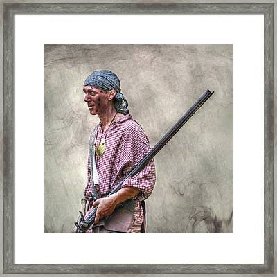 Fort Pitt Scout Portrait Framed Print