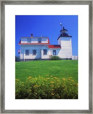 Fort Point Lighthouse Stockton Springs Framed Print