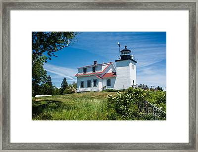 Fort Point Lighthouse  Stockton Springs Me 2  Framed Print