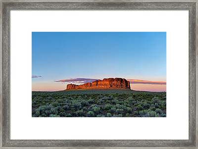 Fort Rock Framed Print