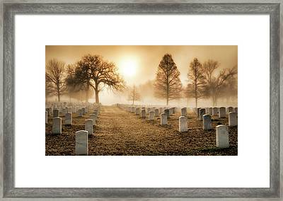Fort Smith National Cemetery Framed Print by James Barber
