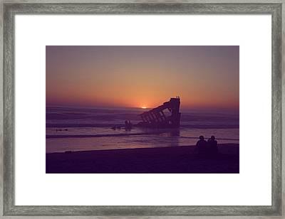 Fort Stevens Sunset Framed Print