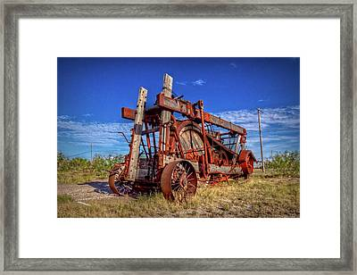 Fort Stockton Contraption Framed Print by Linda Unger