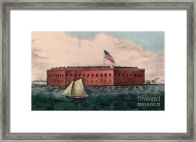 Fort Sumter, Charleston Harbor, South Carolina Framed Print