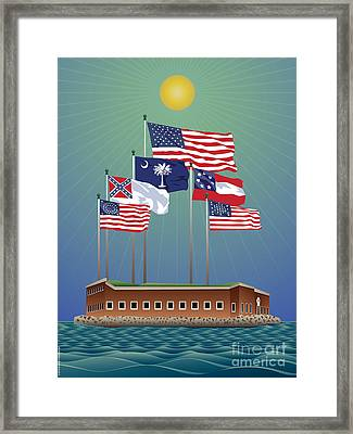 Fort Sumter, Charleston, Sc Framed Print by Joe Barsin