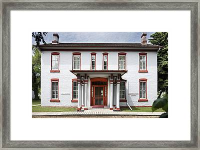 Fort Totten North Dakota Commanding Officers Quarters Framed Print
