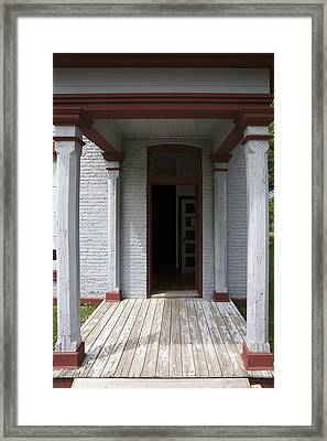 Fort Totten North Dakota Entrance Officers Quarters Framed Print