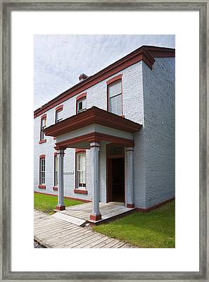 Fort Totten North Dakota Officers Quarters Framed Print