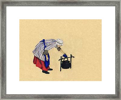 Fort Toulouse Cooking Woman Framed Print by Beth Parrish