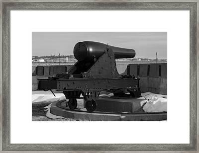 Fort Trumbull Cannon Framed Print