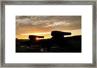 Fort Trumbull Cannons - New London Ct Framed Print