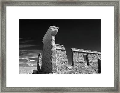 Fort Union Ruins Framed Print