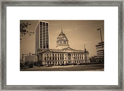Fort Wayne, Indiana - City Hall 2 Framed Print by Frank Romeo