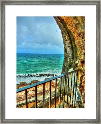 Fort Window View Framed Print by Michael Garyet