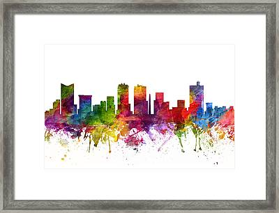 Fort Worth Cityscape 06 Framed Print by Aged Pixel