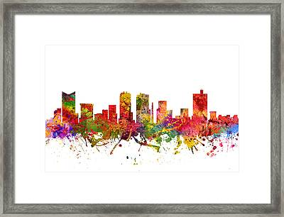 Fort Worth Cityscape 08 Framed Print by Aged Pixel