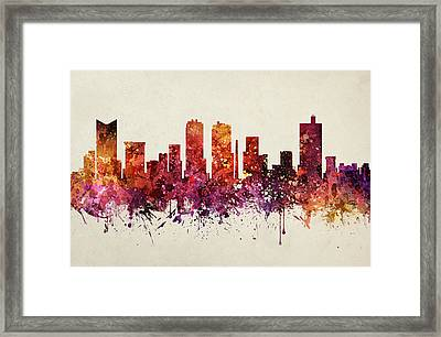 Fort Worth Cityscape 09 Framed Print by Aged Pixel