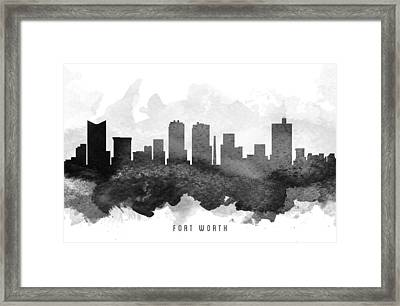 Fort Worth Cityscape 11 Framed Print by Aged Pixel