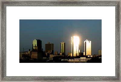 Fort Worth Gold Framed Print