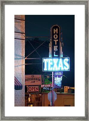 Fort Worth Hotel Texas 6616 Framed Print