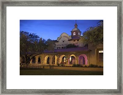 Fort Worth Livestock Exchange Framed Print