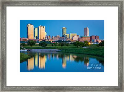 Fort Worth Mirror Framed Print by Inge Johnsson
