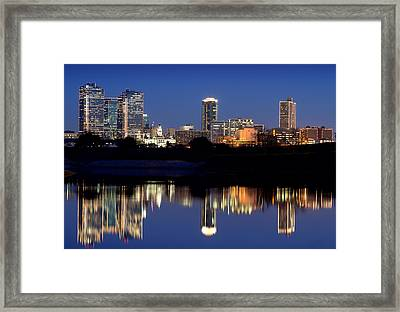 Fort Worth Reflection 41916 Framed Print