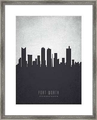 Fort Worth Texas Cityscape 19 Framed Print by Aged Pixel